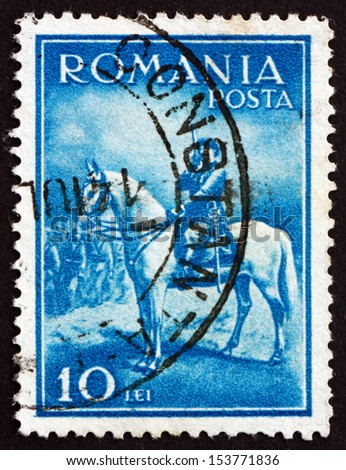 ROMANIA - CIRCA 1932: a stamp printed in the Romania shows King Carol II, King of Romania, circa 1932