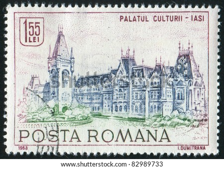 ROMANIA - CIRCA 1968: stamp printed by Romania, show  castle, circa 1968.