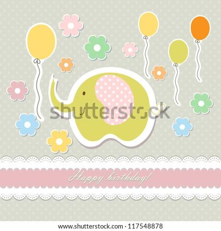 romantic baby art hand drawing card raster
