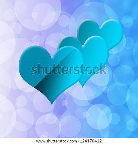 Romantic Background - stock photo