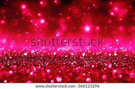 Romantic Background With Red Bokeh For Valentines Day And Christmas Holidays  - stock photo