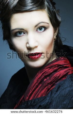 Romantic Beauty.Retro Style. Young woman.