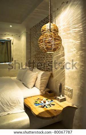 Romantic Bedroom - stock photo