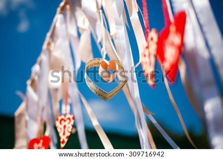 Romantic celebration garland - stock photo