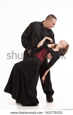 Romantic Couple in Dress - stock photo