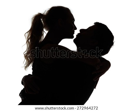 how to draw a man and woman kissing