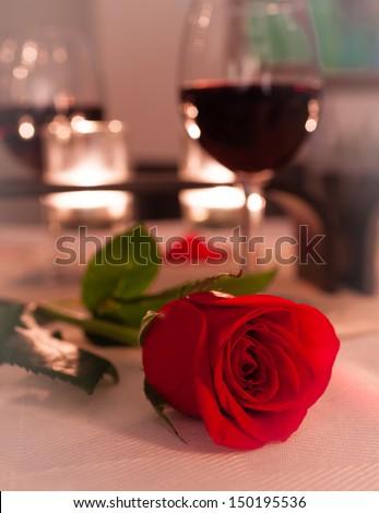 Romantic dinning  - stock photo