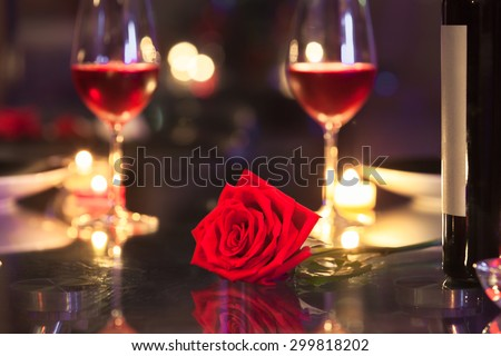 Romantic dinning.  - stock photo