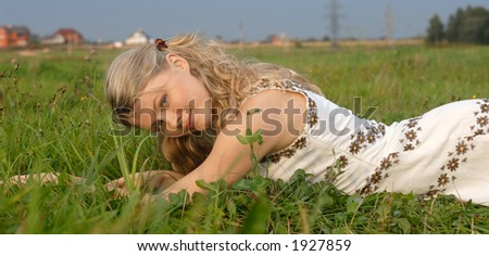romantic girl and nature