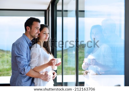 Romantic Happy Young Couple Relax Modern Stock Photo 205049419