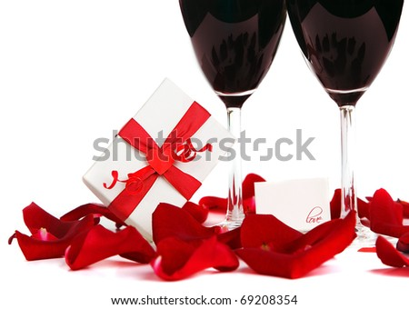 Romantic holiday drink, celebration of valentine's day, love concept - stock photo