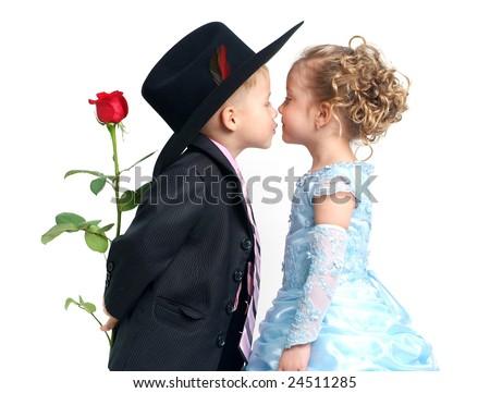 Romantic kiss