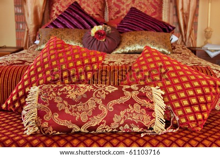 Image result for gold brocade bed