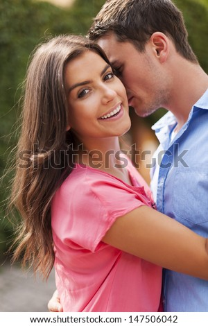 Romantic moments for lovely couple   - stock photo