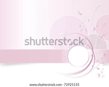 Romantic pink flower background - floral greeting card - white, pink and purple - suitable for themes like love, beauty, spring, valentine, birthday, wedding and the like - stock photo