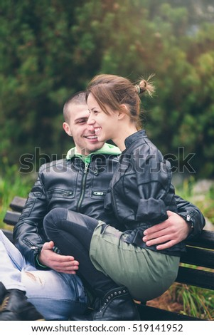 Romantic relationship between invalid young woman without born arms and her boyfriend.