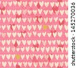 Romantic seamless pattern with small hand drawn hearts. Cartoon background in pink color. Illustration for your textile, paper, stationery or skin design. - stock