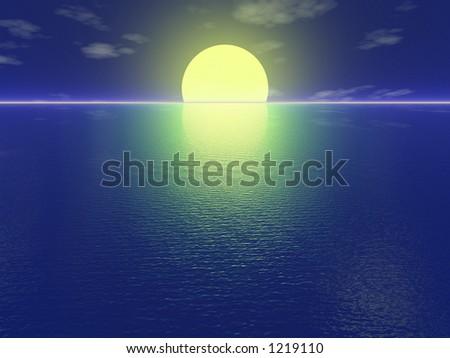 Romantic Sunset - stock photo