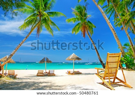 romantic tropical getaway - stock photo