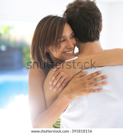 romantic young couple in love  - stock photo