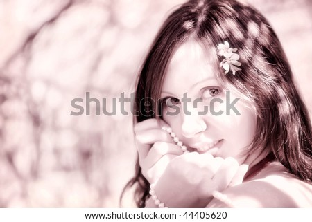 Romantic young woman
