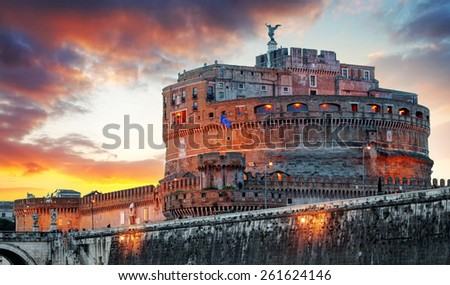 Rome - Castel saint Angelo, Italy - stock photo