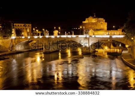 Rome city during the night