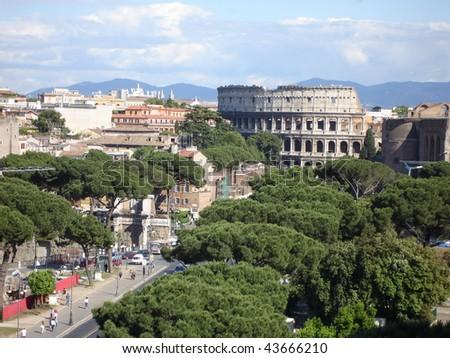Rome Colosseum - stock photo