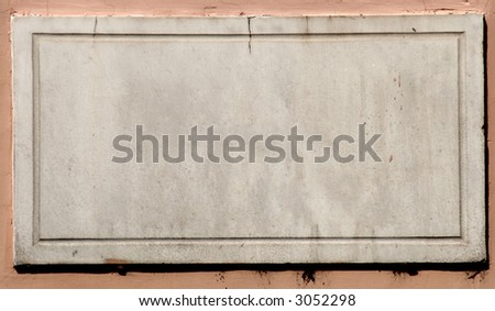 Rome, empty street sign - space for text - - stock photo
