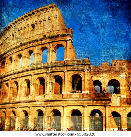 Rome - great italian landmarks series - stock photo