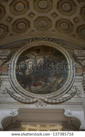 ROME, ITALY-APRIL 18 : image of The church of Santa Maria degli Angeli e dei Martiri on April 18, 2012. The church is dedicated to the Christian martyrs and was built in the XVI century. - stock photo