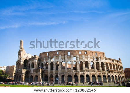 Rome, Italy, Coliseum in sunny day - stock photo