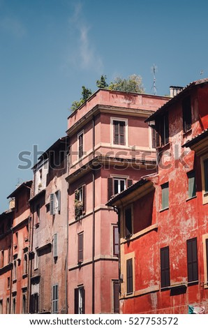 Rome, Italy colorful building