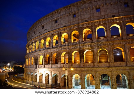 Rome, Italy: Colosseum on September 27, 2015 in Rome Italy.