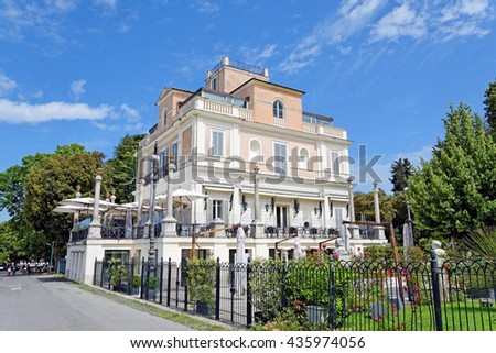 Rome, Italy - May, 17.2016 - Casina Valadier became a trendy spot for artists and intellectuals from around the world.