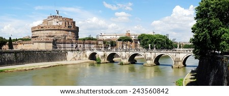 ROME, ITALY - MAY 30: San Angelo old castle on May 30, 2014, Rome, Italy. - stock photo