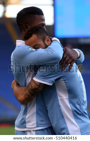 Rome, Italy 30 october, 2016: Keita and Anderson in action during the match Serie A league  between Lazio vs Sassuolo in Olimpic stadium in Rome on October 2016.