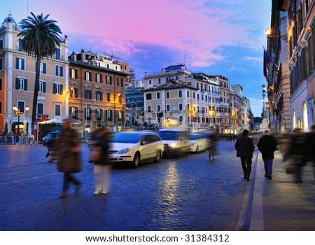 Rome, Italy (Piazza di Spagna) - stock photo