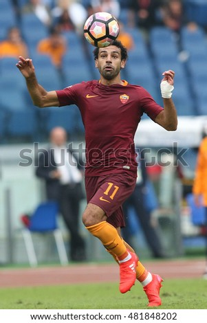 Rome, Italy 11 september 2016: Salah in action during the italian Serie A league match between As Roma and Sampdoria at Olimpic Stadium on Seprember 11, 2016 in Rome  Italy.
