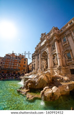 Rome, Italy. The famous de Trevi Fountain