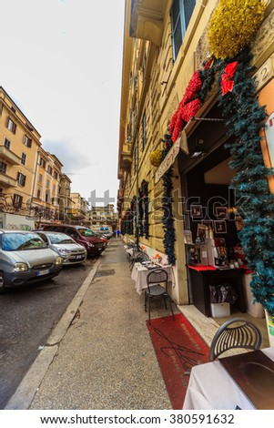 ROME - January 12: Beautiful, gorgeous majestic Rome. January 12, 2016 in Rome, Italy.