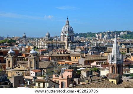 ROME - JUNE 18 2016: Rome is predominantly Roman Catholic and there are more than 900 churches.