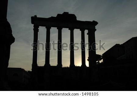 Rome Ruins, Forum Romanum - stock photo