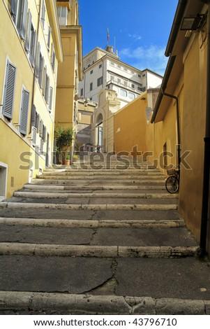 Rome stairs - stock photo