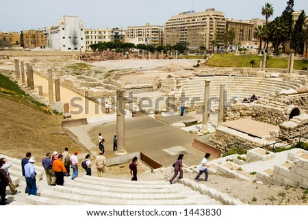 Rome Theatre in Alexandria, Egypt - stock photo