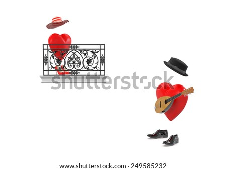 Romeo and Juliet  - stock photo