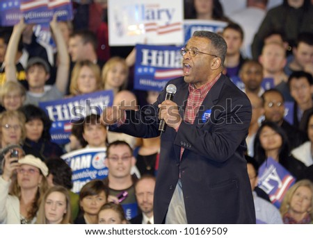 Ron Sims at Hillary Clinton Rally for Presidential Campaign