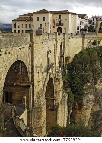 Ronda Bridge, Andalusia, Spain, Europe - stock photo