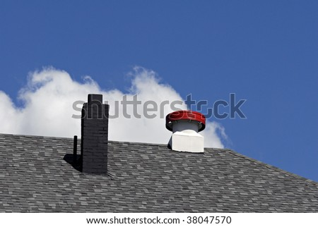 Roof Chimney and Vent - stock photo