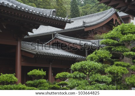 roof details chinese temple hong kong stock photo royalty free